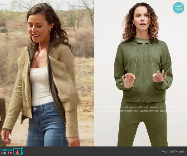 The Judith Hoodie—Cashmere by M.M. Lafleur worn by Katie Thurston  on The Bachelorette