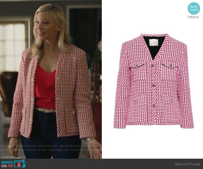 Vyza cotton-blend tweed jacket by Maje worn by Barbara Whitmore (Amy Smart) on Stargirl