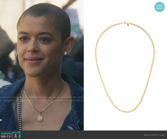 Carlo 50 Necklace by Maria Black worn by Julien Calloway (Jordan Alexander) on Gossip Girl