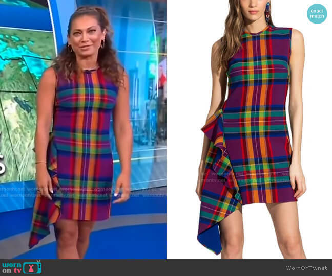 Maura Dress by Shoshanna worn by Ginger Zee  on Good Morning America