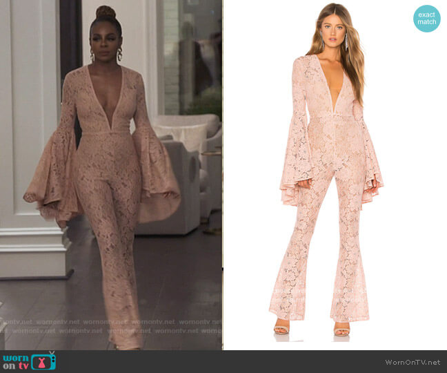 x REVOLVE Beauty Jumpsuit by Michael Costello worn by Candiace Dillard Bassett  on The Real Housewives of Potomac