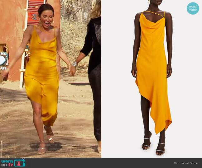 Asymmetric Crepe Slip Dress by Monse worn by Kaitlyn Bristowe  on The Bachelorette