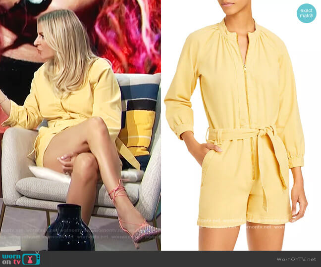 The Gatherer Romper by Mother worn by Morgan Stewart  on E! News