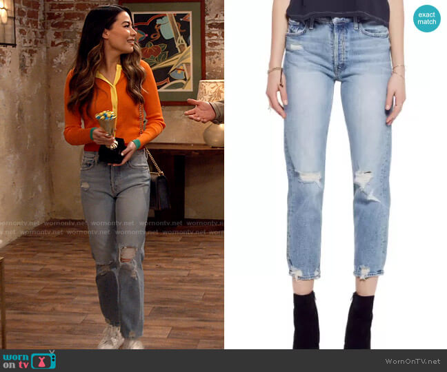 Mother Tomcat Jeans in The Confession worn by Carly Shay (Miranda Cosgrove) on iCarly