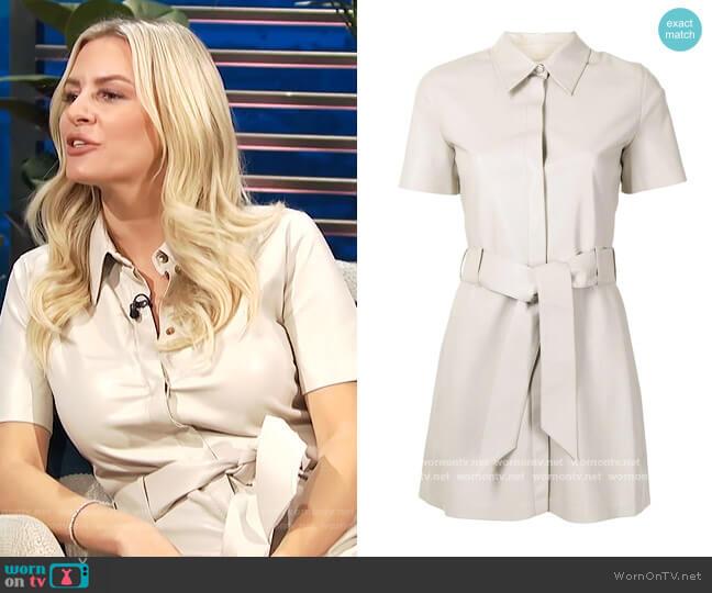 Halli faux leather dress by Nanushka worn by Morgan Stewart  on E! News
