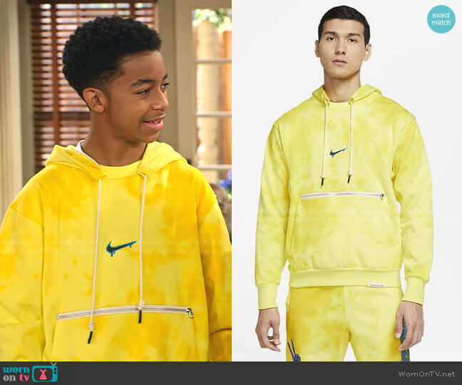 Peace Love Basketball Hoodie by Nike worn by Shaka McKellan (Isaiah Russell-Bailey) on Family Reunion