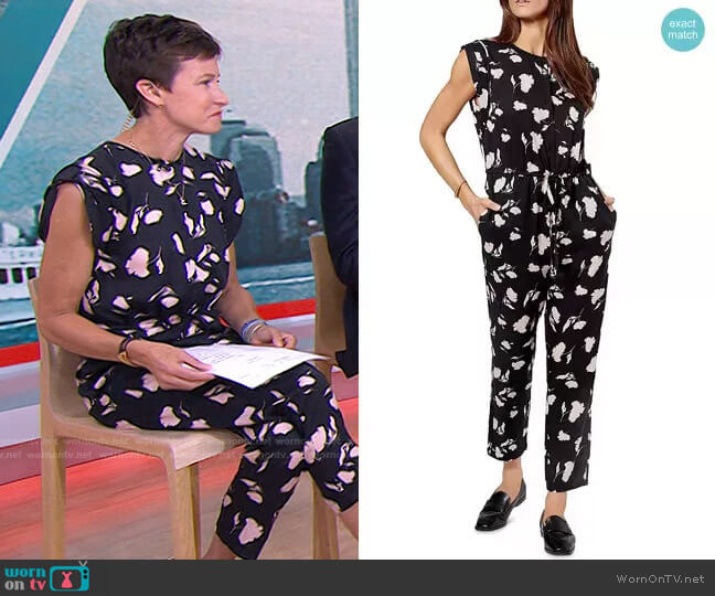 Noleen Floral Jumpsuit by Joie worn by Stephanie Gosk  on Today