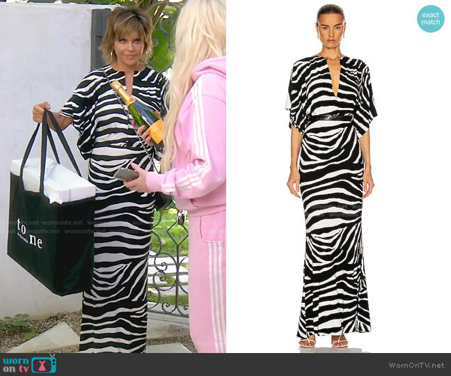 Obie Gown by Norma Kamali worn by Lisa Rinna  on The Real Housewives of Beverly Hills