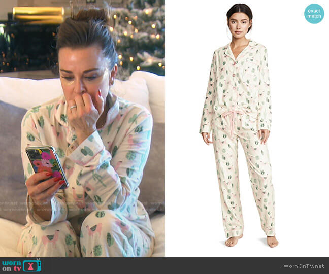 Fit Flannel PJ Set by PJ Salvage worn by Kyle Richards  on The Real Housewives of Beverly Hills