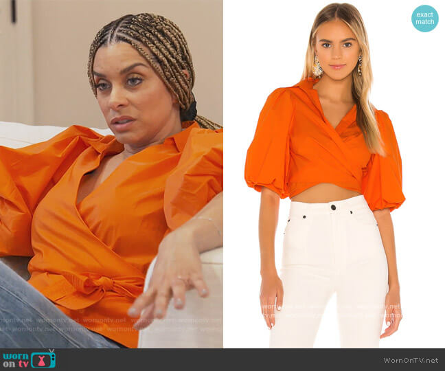 Cellini Blouse by Petersyn worn by Robyn Dixon  on The Real Housewives of Potomac