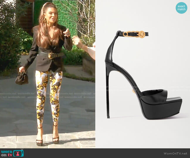 Platform Sandals by Versace worn by Lisa Rinna  on The Real Housewives of Beverly Hills