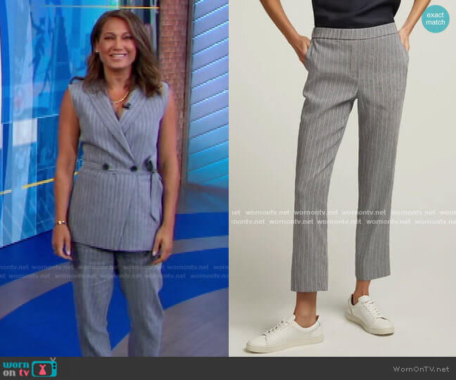 Pull-On Trouser in Linen by Argent worn by Ginger Zee  on Good Morning America