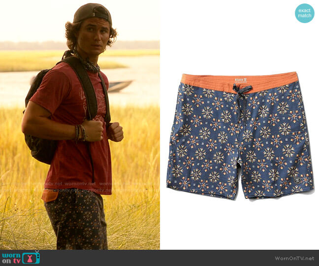 Roark Chiller Fire in The Sky Boardshort worn by John B (Chase Stokes) on Outer Banks