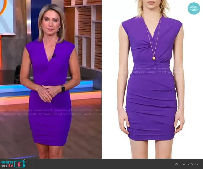 Ruched Body-Con Dress by Maje worn by Amy Robach  on Good Morning America