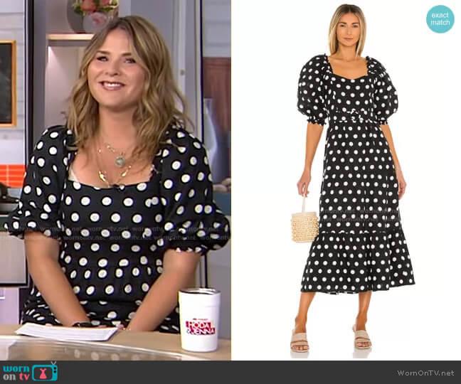 Rumi Midi Dress by Faithfull the Brand worn by Jenna Bush Hager  on Today
