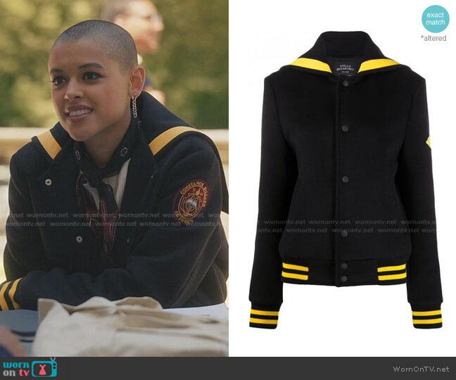 Erve Logo-print Wool Blouson Jacket by Stella McCartney worn by Julien Calloway (Jordan Alexander) on Gossip Girl