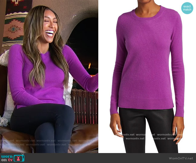 COLLECTION Cashmere Roundneck Sweater by Saks Fifth Avenue worn by Tayshia Adams  on The Bachelorette