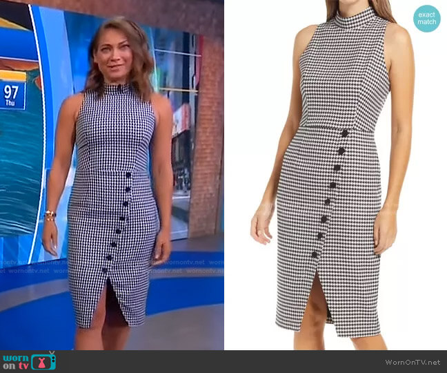 Sofie Dress in Classic Chic by Black Halo worn by Ginger Zee  on Good Morning America