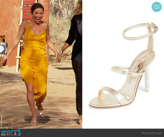 Rosalind Crystal Sandals by Sophia Webster worn by Kaitlyn Bristowe  on The Bachelorette