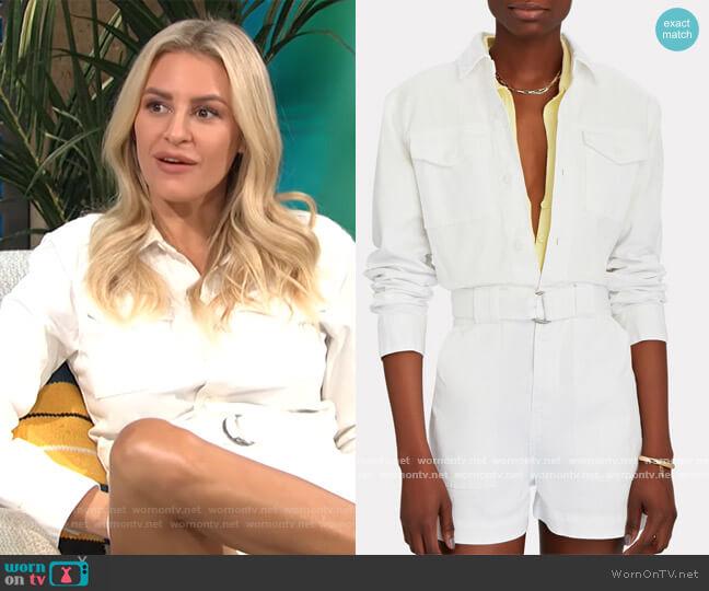 Darcy Cotton Twill Romper by Standard worn by Morgan Stewart  on E! News
