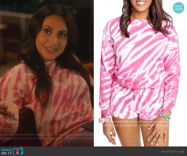 Jada Tie Dye Sweatshirt by Sundown by Splendid worn by Ana Torres (Francia Raisa) on Grown-ish