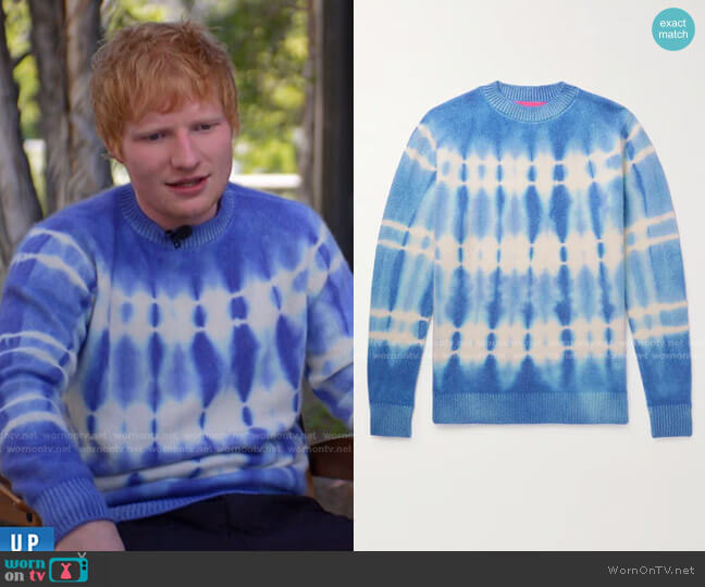 Wire Tie-Dyed Cashmere Mock-Neck Sweater by The Elder Statesman worn by Ed Sheeran on Today