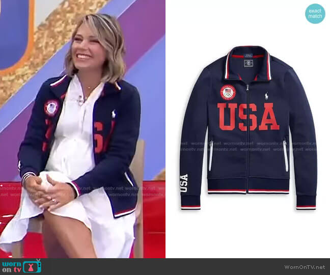 Team USA Track Jacket by Polo Ralph Lauren x Team USA worn by Dylan Dreyer  on Today