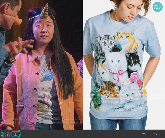 Unisex Kittens Tee by The Mountain worn by Alice Kwan (Sherry Cola) on Good Trouble