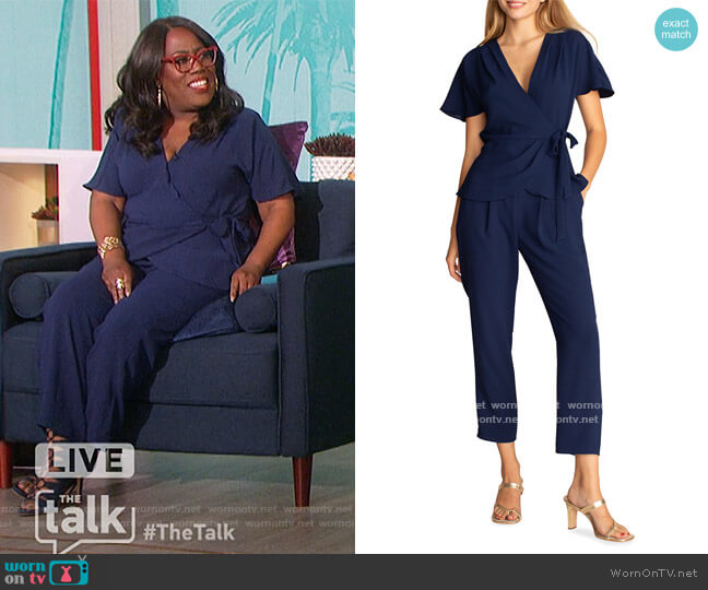Astro Wrap Surplice Top and Pants by Trina Turk worn by Sheryl Underwood  on The Talk