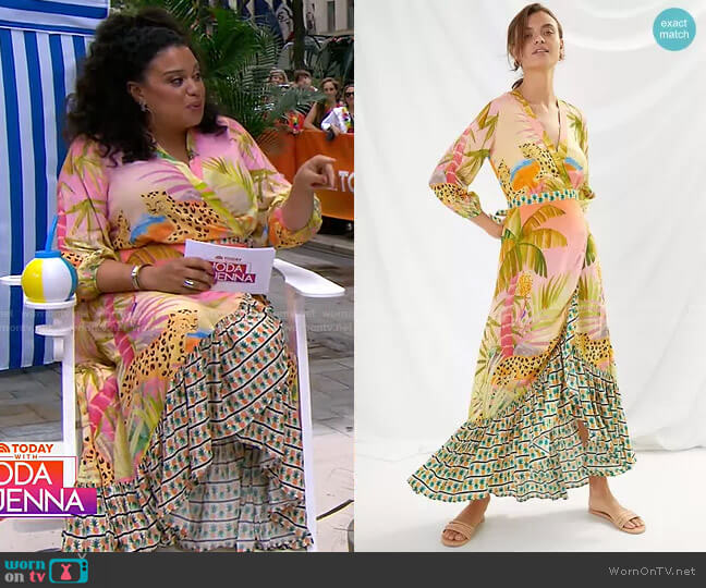 Tropical Wrap Maxi Dress by Farm Rio worn by Michelle Buteau on today