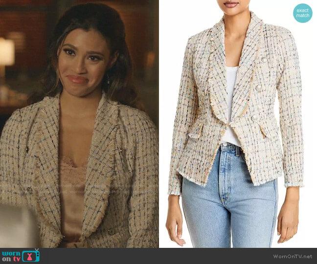 Tweed Blazer by Aqua worn by Kara Royster on Dynasty
