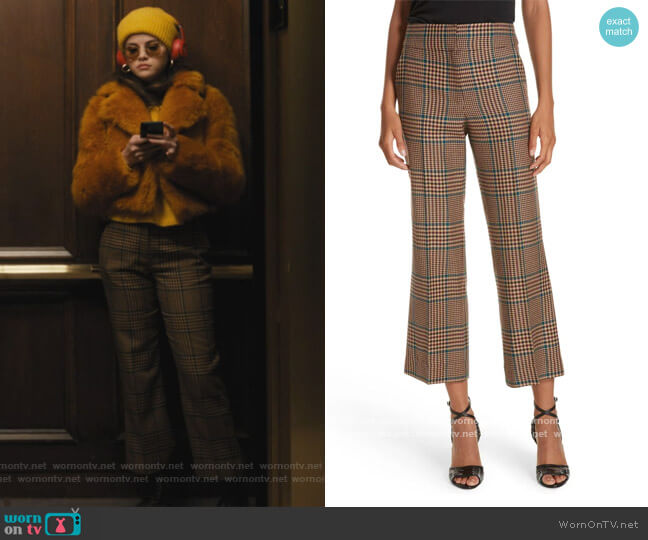 Cormac Plaid Wool Blend Trousers by Veronica Beard worn by Mabel Mora (Selena Gomez) on Only Murders in the Building