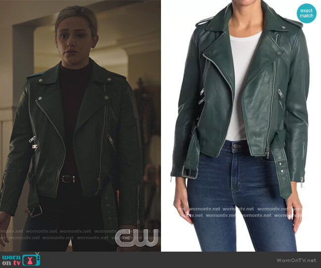 Allison Leather Moto Jacket by Walter Baker worn by Betty Cooper (Lili Reinhart) on Riverdale