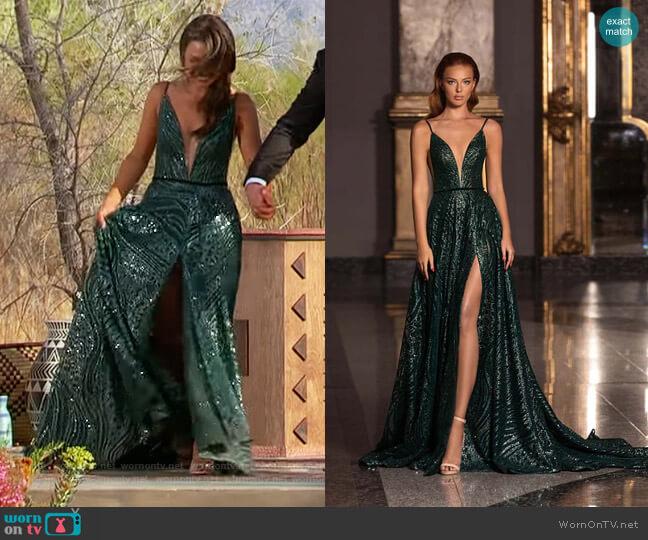 Euphoria 20609 by Wona Concept worn by Katie Thurston  on The Bachelorette