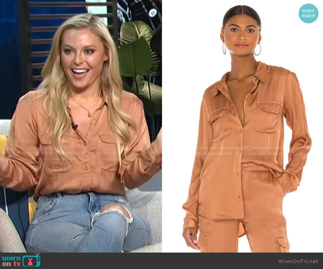 Belle Top by Young, Fabulous & Broke worn by Cristy Lee's on E! News Daily Pop