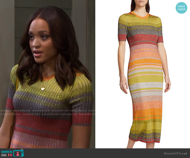 Brightside T-Shirt Knit Dress by Zimmermann worn by Lani Price (Sal Stowers) on Days of our Lives
