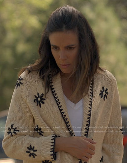 Addy's flower embroidered cardigan on American Horror Stories