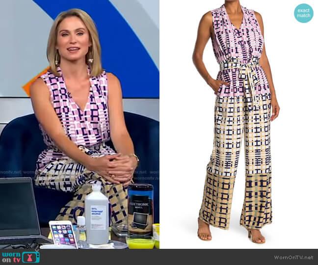 Rhiann Jumpsuit by Adelyn Rae worn by Amy Robach  on Good Morning America