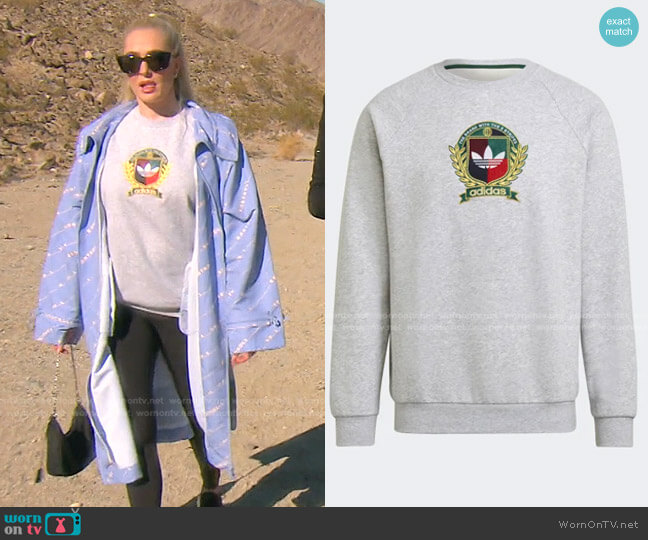 Crest Crew Sweatshirt by Adidas worn by Erika Jayne  on The Real Housewives of Beverly Hills