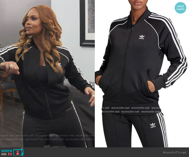 Primeblue SST Track Jacket by Adidas worn by Gizelle Bryant  on The Real Housewives of Potomac