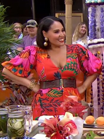 Alejandra Ramos's red floral dress on Today