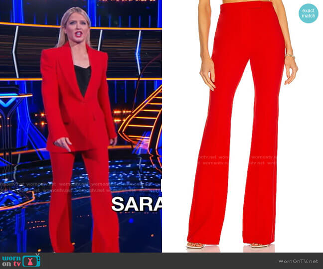 Rene Trousers by Alex Perry worn by Sara Haines  on The Chase