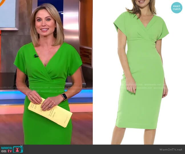 Naomi Dress by Alexia Admor worn by Amy Robach  on Good Morning America