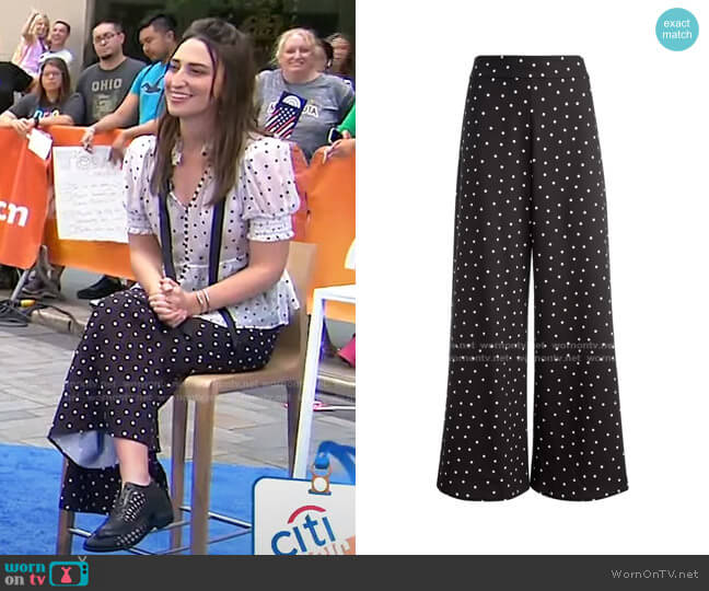 Athena Wide-Leg Pants by Alice + Olivia worn by Sara Bareilles on Today