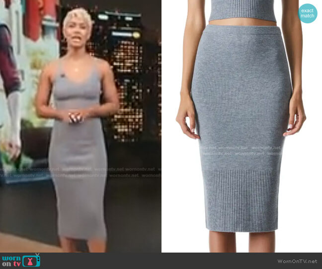 Leo Knit Pencil Skirt by Alice + Olivia worn by Sibley Scoles  on Access Hollywood