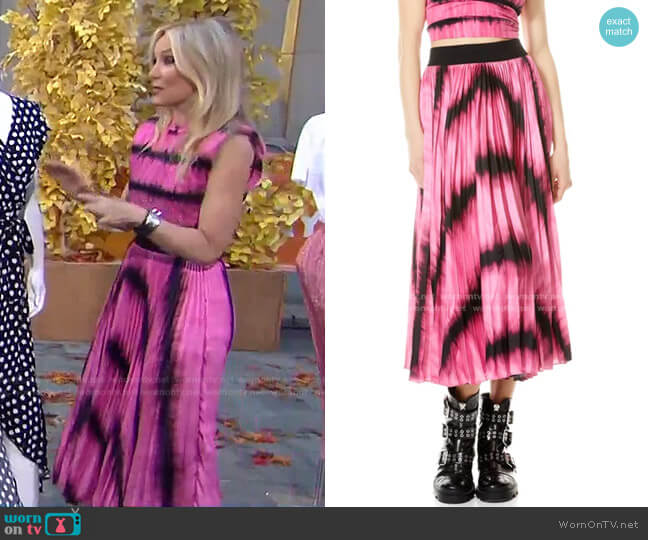 Katz Skirt by Alice + Olivia worn by Chassie Post  on Today