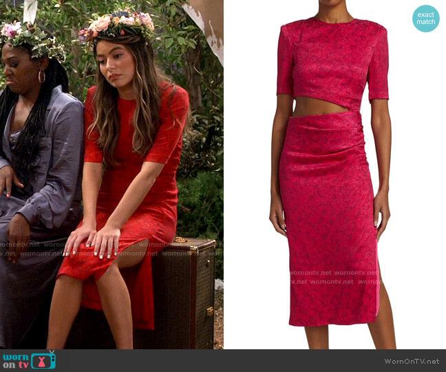 Alice + Olivia Stella Dress worn by Carly Shay (Miranda Cosgrove) on iCarly