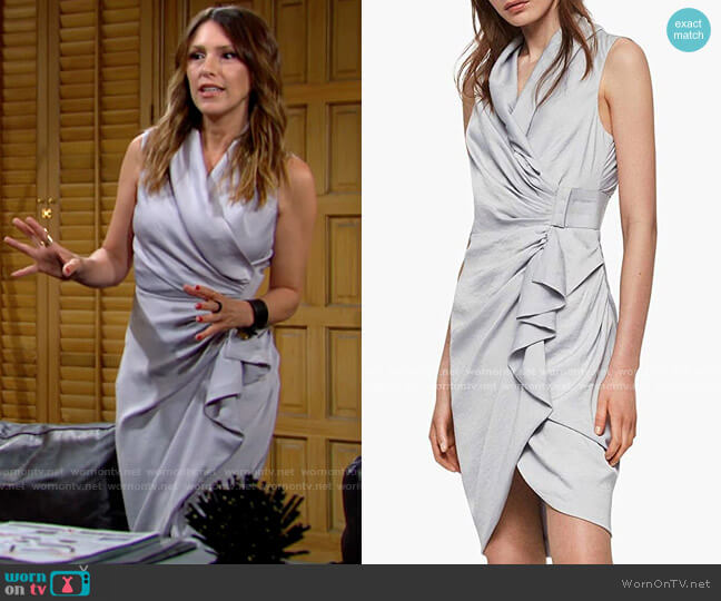 All Saints Cancity Dress worn by Chloe Mitchell (Elizabeth Hendrickson) on The Young & the Restless