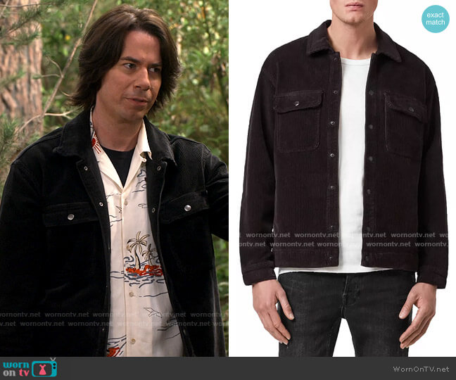 All Saints Castleford Corduroy Relaxed Fit Overshirt worn by Spencer Shay (Jerry Trainor) on iCarly