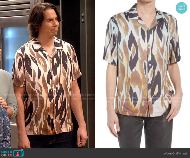 All Saints Fuego Shirt worn by Spencer Shay (Jerry Trainor) on iCarly